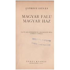 Györffy István: Magyar falu, magyar ház