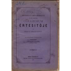 Székely-Udvarhelyi Evang. Reform. Collegium Értesítője 1880-81
