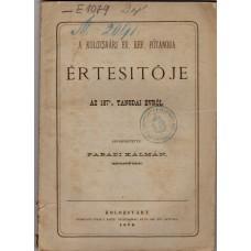 A Kolozsvári Ev.Ref. Főtanoda Értesítője 1875-76