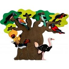 Fauna játékok- afrikai madarak