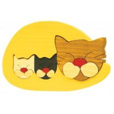 Fauna játékok- Állatcsaládok: cica bézs
