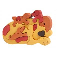 Fauna játékok- Állatcsaládok: barna kutya