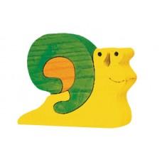 Fauna játékok- Állat figurák:  zöld csiga