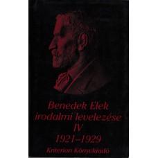 Benedek Elek irodalmi levelezése 1921–1929 IV.