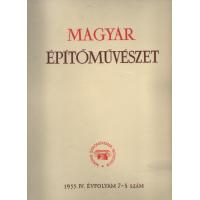 Magyar Építőművészet 7 - 8 szám 1955