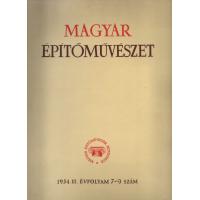 Magyar építőművészet 1954. III. évfolyam 7-9 szám