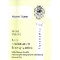 Fodorpataki László: Acta Scientiarum Transylvanica - Agronomia - 2011-2012