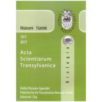 Fodorpataki László: Múzeumi Füzetek - Acta Scientiarum Transylvanica Biológia 2011-19-1