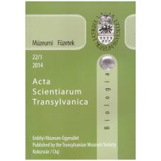 Fodorpataki László: Múzeumi Füzetek - Acta Scientiarium Transylvanica-Biológia 2014 22-1