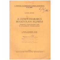 Lampl Hugó: A Cementhabarcs Besajtolási Eljárás