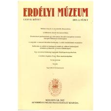 Kovács Kiss Gyöngy, Tánczos Vilmos: Erdélyi Múzeum 2015 2 füzet