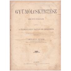 Gyümölcskertész 1892. évi folyam