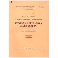 Dr. Kotsis Endre: Istállók Épitésének Újabb Módjai