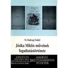 M. Bodrogi Enikő: Jósika Miklós műveinek fogadtatástörténete