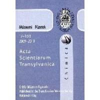 Fodorpataki László: Múzeumi Füzetek - Acta Scientiarium Transylvanica-Kémia