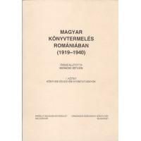 Monoki István: Magyar könyvtermelés Romániában (1919-1940)