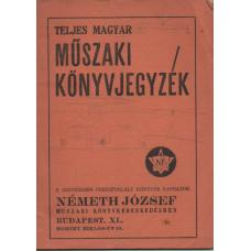 Teljes Magyar Műszaki Könyvjegyzék