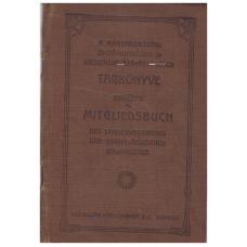 A magyarországi épitőmunkások országos szövetségének tagkönyve