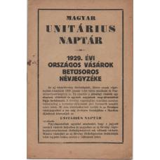 1929. Évi Országos Vásárok Betűsoros Névjegyzéke