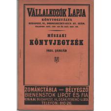 Műszaki könyvjegyzék